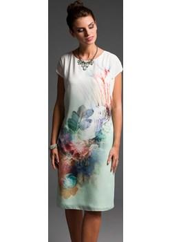 EDNA sukienka we wzór z tkaniny M-XXL Risca 38 Risca RiscaShop okazyjna cena - kod rabatowy