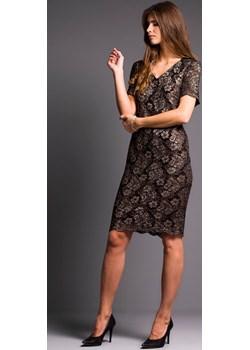 ANNA sukienka koronkowa na wesele czarna L-3XL Risca 42 Risca RiscaShop - kod rabatowy