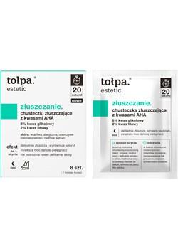 chusteczki złuszczające z kwasami AHA, 8 szt. Tołpa tolpa.pl - kod rabatowy