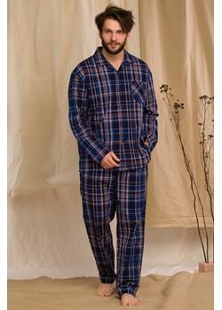 Rozpinana bawełniana piżama męska KEY MNS 466 B20 granatowa Key okazja bodyciao - kod rabatowy