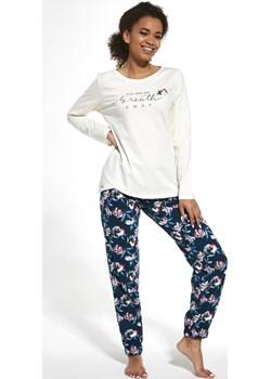 Bawełniana piżama damska Cornette 161/251 Breath ecru Cornette okazyjna cena bodyciao - kod rabatowy