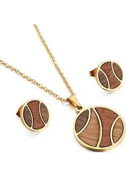 Komplet drewnianej biżuterii Earth Gold Woodfi Woodfi - kod rabatowy