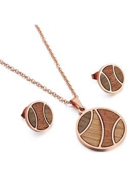 Komplet drewnianej biżuterii Earth Rose gold Woodfi Woodfi - kod rabatowy
