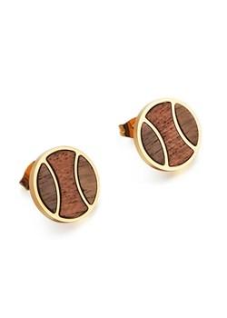 Drewniane kolczyki Earth Gold Woodfi Woodfi - kod rabatowy