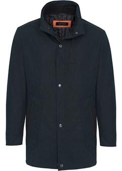 Czarny płaszcz ze stójką 27144 Lavard okazja Lavard - kod rabatowy