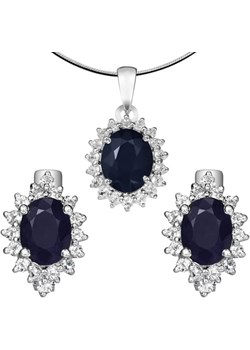 KATE komplet srebrnej biżuterii szafiry kolczyki wisiorek Braccatta Braccatta - kod rabatowy