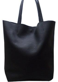 Duża skórzana torebka HOBO czarna Qualityart.pl Qualityart okazja - kod rabatowy