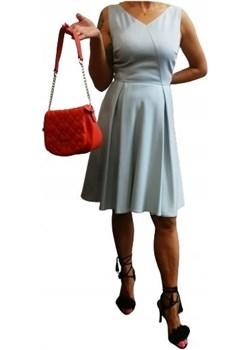 Wyprzedaż! Elegancka Sukienka Błękit Taifun Taifun wyprzedaż WygodnaModa - kod rabatowy
