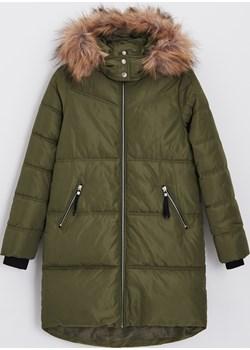 Cropp - Pikowany płaszcz z kapturem ECO AWARE - Cropp Cropp - kod rabatowy