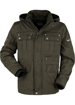 Rock Rebel by EMP - Green Between-Seasons Jacket with Removable Hood - Kurtka zimowa - oliwkowy promocyjna cena EMP - kod rabatowy