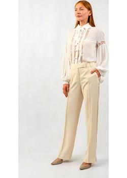 Spodnie klasyczne ecru Babylon Glamwear - kod rabatowy