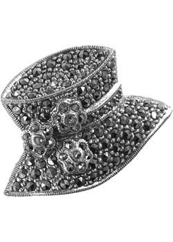TOPI Srebrna broszka markazyty kapelusz średnia Braccatta Braccatta - kod rabatowy