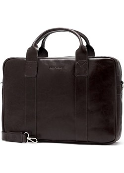 Męska torba na laptop ze skóry naturalnej Brodrene R01 ciemny brąz Brødrene Brodrene - kod rabatowy