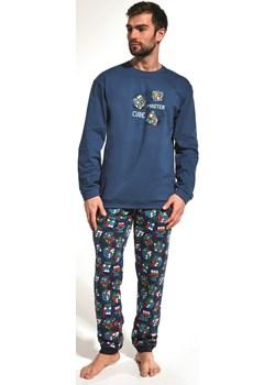 Bawełniana piżama męska Cornette 115/158 Cube master granatowa Cornette bodyciao promocyjna cena - kod rabatowy