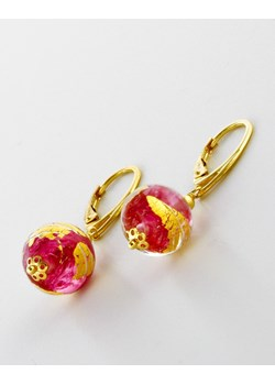Kolczyki Czerwono-Złote - biżuteria szkło Murano Skarby Murano Skarby Murano - kod rabatowy