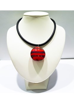Wisiorek Okrągły Czerwono-Fioletowy - biżuteria szkło Murano Skarby Murano Skarby Murano - kod rabatowy