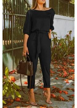 Kombinezon damski DARFA BLACK okazja Ivet Shop - kod rabatowy