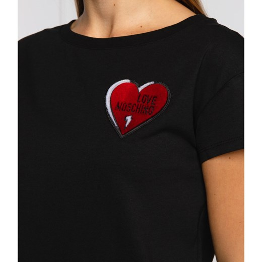 Love Moschino T-shirt | Regular Fit Love Moschino 36 promocyjna cena Gomez Fashion Store