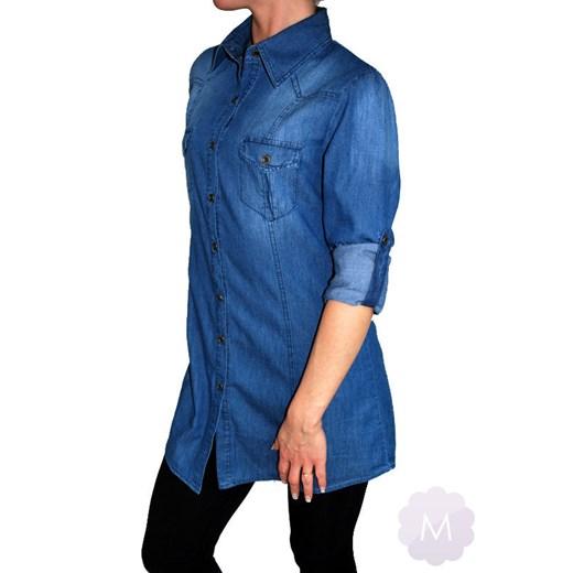 Koszula Tunika jeansowa granatowa lekko przetarta mercerie  6pDaF