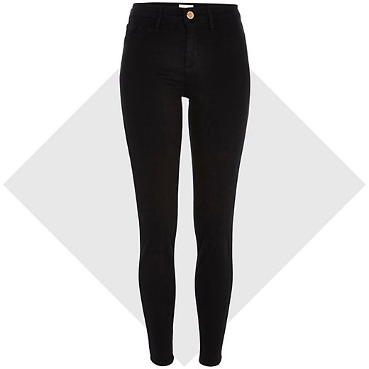Black Molly reform jeggings river-island czarny