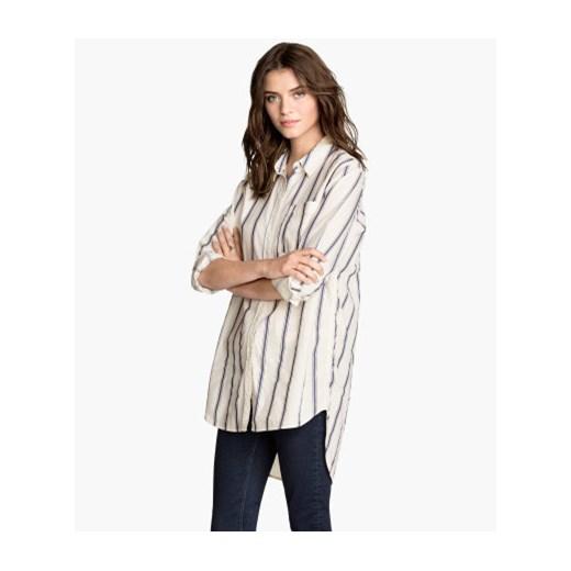 Bawełniana koszula oversize h m szary bawełna w Domodi  QvBQJ
