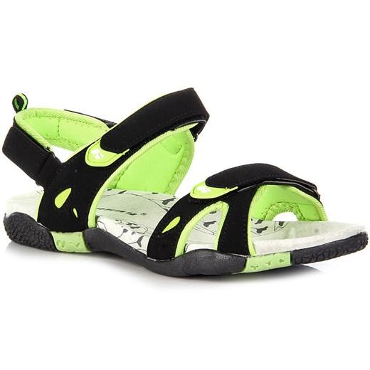 HASBY 1791C czarne sandały damskie sportowe na rzepy butyraj