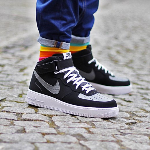 Nike Air Force 1 Mid 07 (315123 025) thebestsneakers pl szary