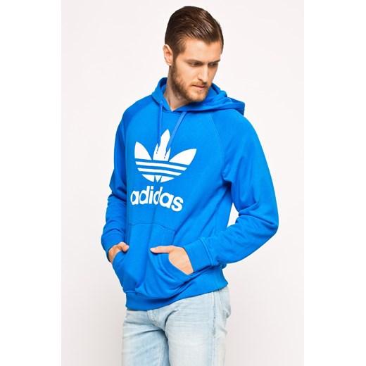 Bluza adidas Originals answear com niebieski Bluzy męskie z kapturem
