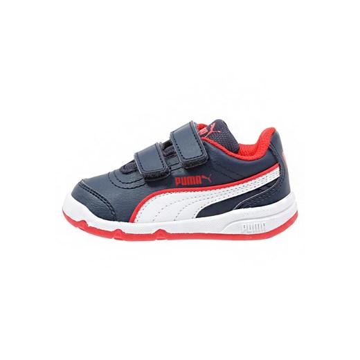 Puma STEPFLEEX Obuwie treningowe peacoatwhitehigh risk red zalando szary Buty chłopięce do biegania