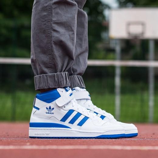 BUTY MĘSKIE ADIDAS ORIGINALS FORUM MID G19482 sneakerstudio pl szary lekkie