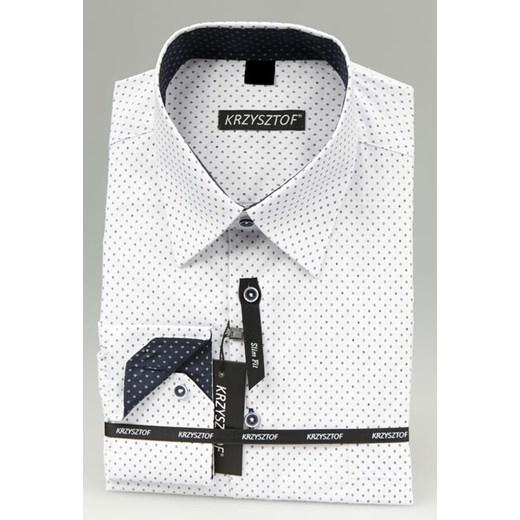 KRZYSZTOF koszula biała XXL 45 46 176182 dł. SLIM FIT  011A8
