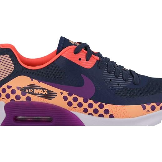 Buty damskie sneakersy Nike Air Max 90 Ultra BR Print 807352 100 sneakerstudio pl szary do biegania