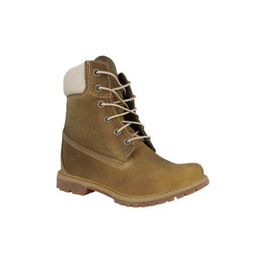 Buty damskie Timberland Premium 6 IN 8229A sneakerstudio pl brazowy kołnierzyk
