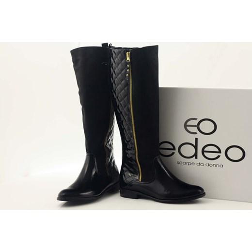 EbataEdeo 1800 kozaki % butymodne pl czarny damskie ocieplane