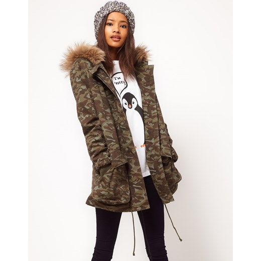 Płaszcz Asos Moro Parka With Fur Hooded  pandzior-pl-new-vogue  futra