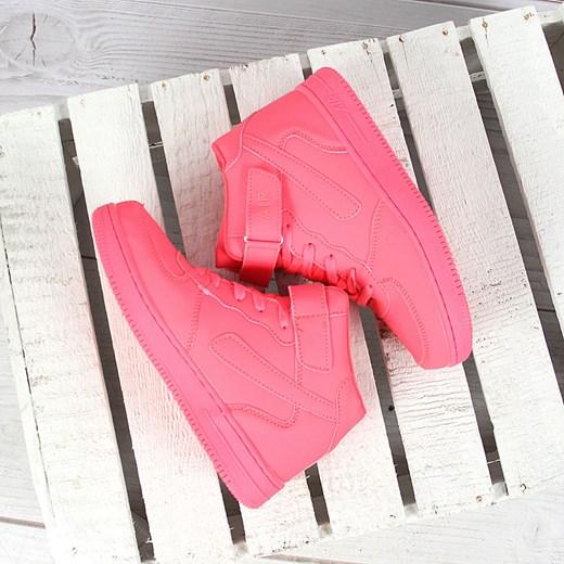 Sportowe buty neonowe damskie wysokie na rzep Xcore Badoxx