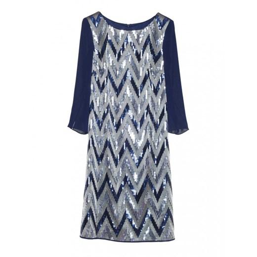 Sukienka z cekinami SEPTINA granatowy Potis&verso Eye For Fashion Odzież Damska XI wielokolorowy OLIL