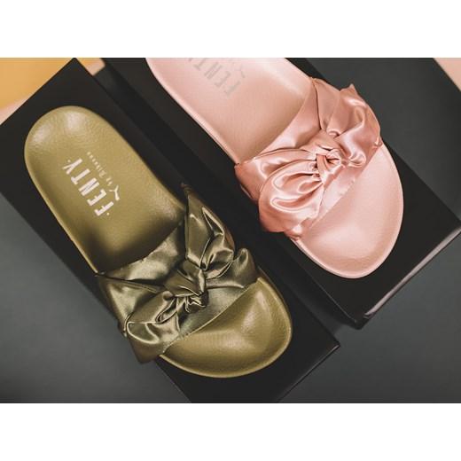 Klapki damskie Puma Rihanna Fenty Bow Slide 365774 01 zielony sneakerstudio.pl