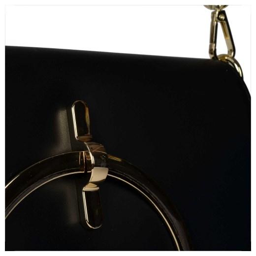 Włoska skórzana czarna torebka listonoszka nowość