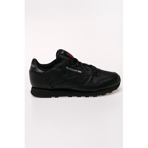 Buty sportowe damskie Reebok do tenisa czarne bez wzorów na