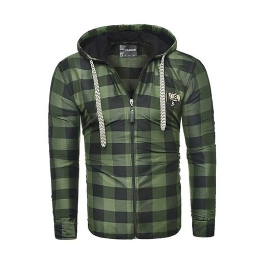 Męska bluza rozpinana rl60 zielona Risardi