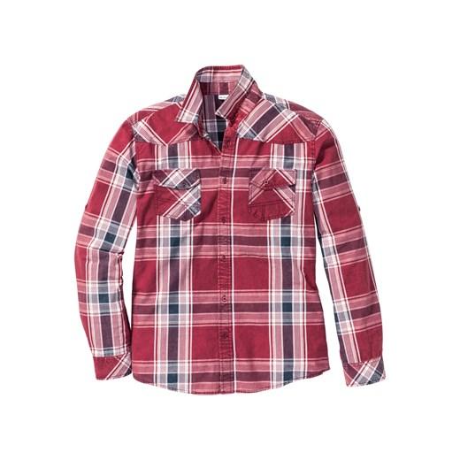 Koszula w kratę Slim Fit John Baner JEANSWEAR bonprix w Domodi  FyMy3