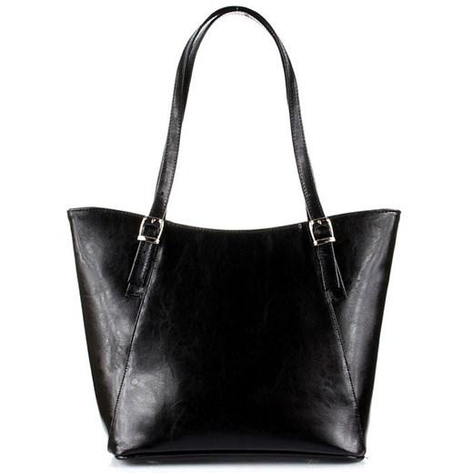 DAN A T275 czarna torebka skórzana damska elegancka skorzana