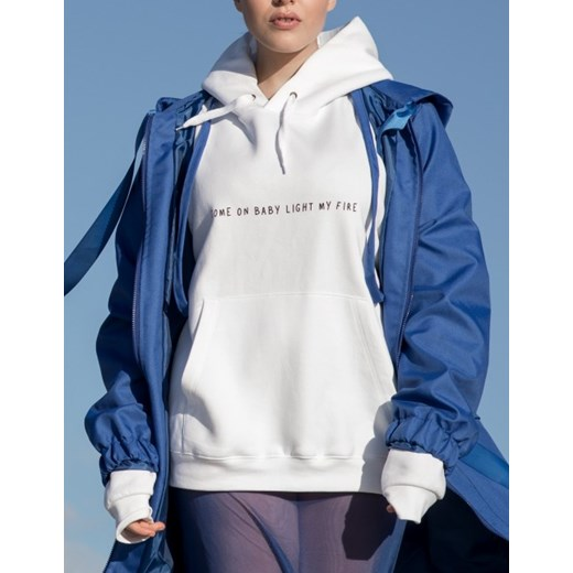 Bluza Come on Baby White Hoodie niebieski Rest Factory L/XL showroom.pl