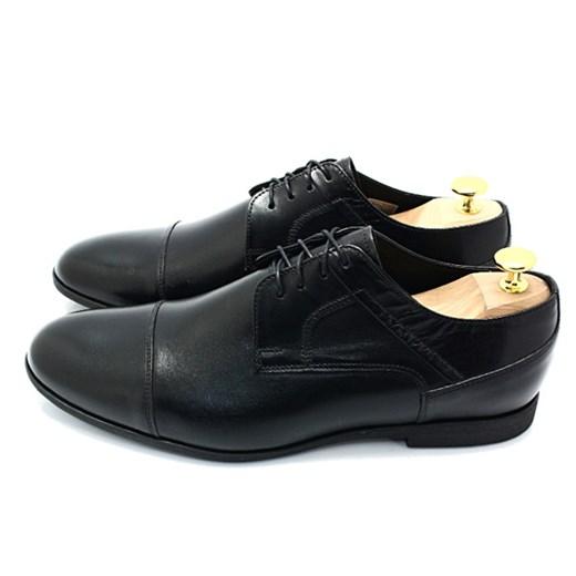 LAVAGGIO 432 CZARNE Wiztowe buty ze skóry naturalnej szary Tymoteo.pl sklep obuwniczy