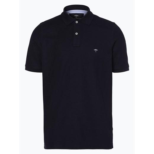 Fynch Hatton Męska koszulka polo, niebieski czarny  Uq92O