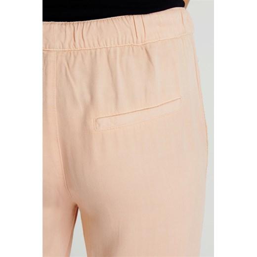 Spodnie damskie materiałowe z lampasami różowe Rock Angel