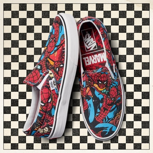 Wysoka moda Buty Do Chodzenia Vans Classic Slip On X Marvel