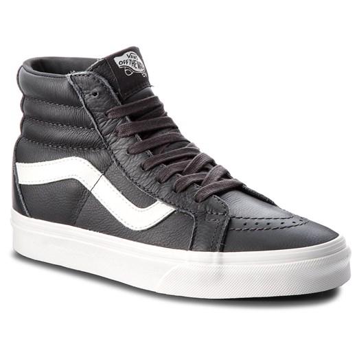 Sneakersy VANS Sk8 Hi Reissue VN0A2XSBQD1 (Leather) AsphaltBlanc D eobuwie.pl