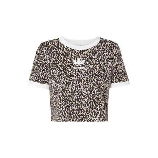 Krótka bluzka z wzorem w panterkę Adidas Originals Fashion ID GmbH & Co. KG